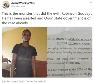 17-year-old girl in coma after she was raped and abandoned in a gutter in Ogun State