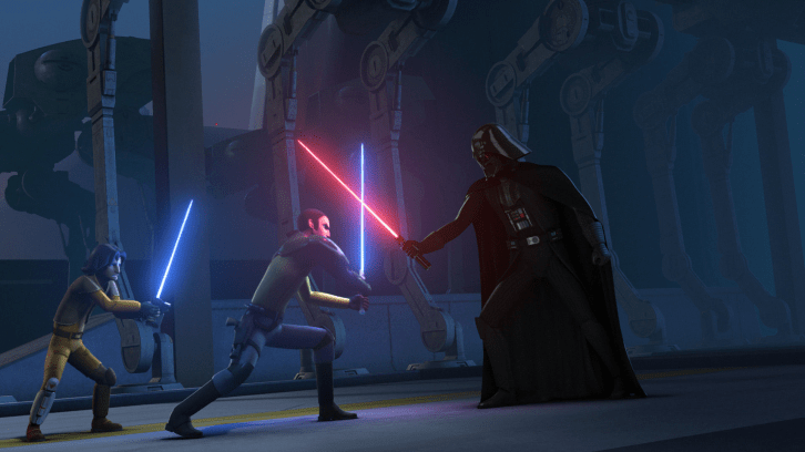 Star Wars Rebels Kanan_and_Ezra_face_Darth_Vader