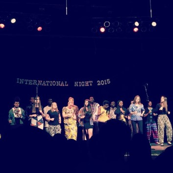 The African Chorus performing at International Night