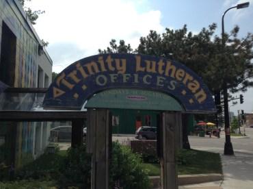 Trinity Lutheran Offices, 2001 Riverside Avenue, Minneapolis, July 2014