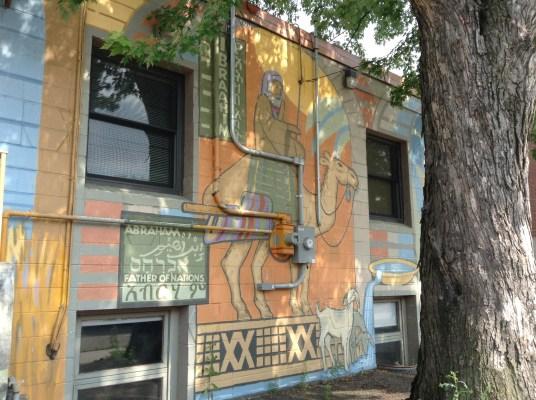 Children of Abraham mural 2001 Riverside Ave.