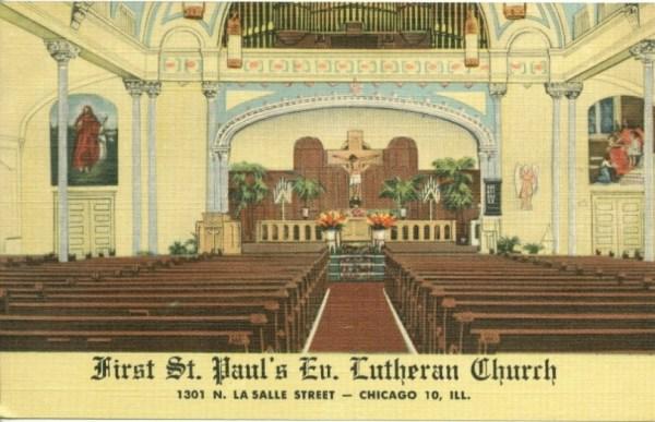 First-St. Paul Ev. Lutheran Church, Chicago, Illinois ...