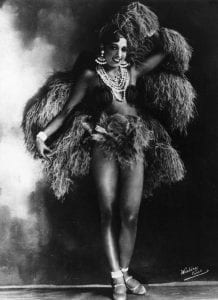 """Josephine Baker, lead dancer in La Revue Negre, was described by Levinson as """"a sinuous idol that enslaves and incites mankind"""" (74)."""
