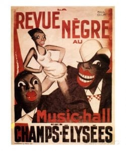 Poster from the 1925 La Revue Negre