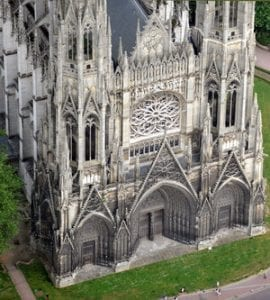 Image of the Rouen Cathedral, the home of both the author and subject of my letter.