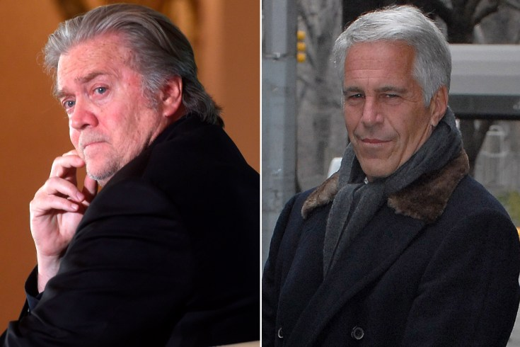 Steve Bannon trying to get on disgraced Jeffrey Epstein's good side
