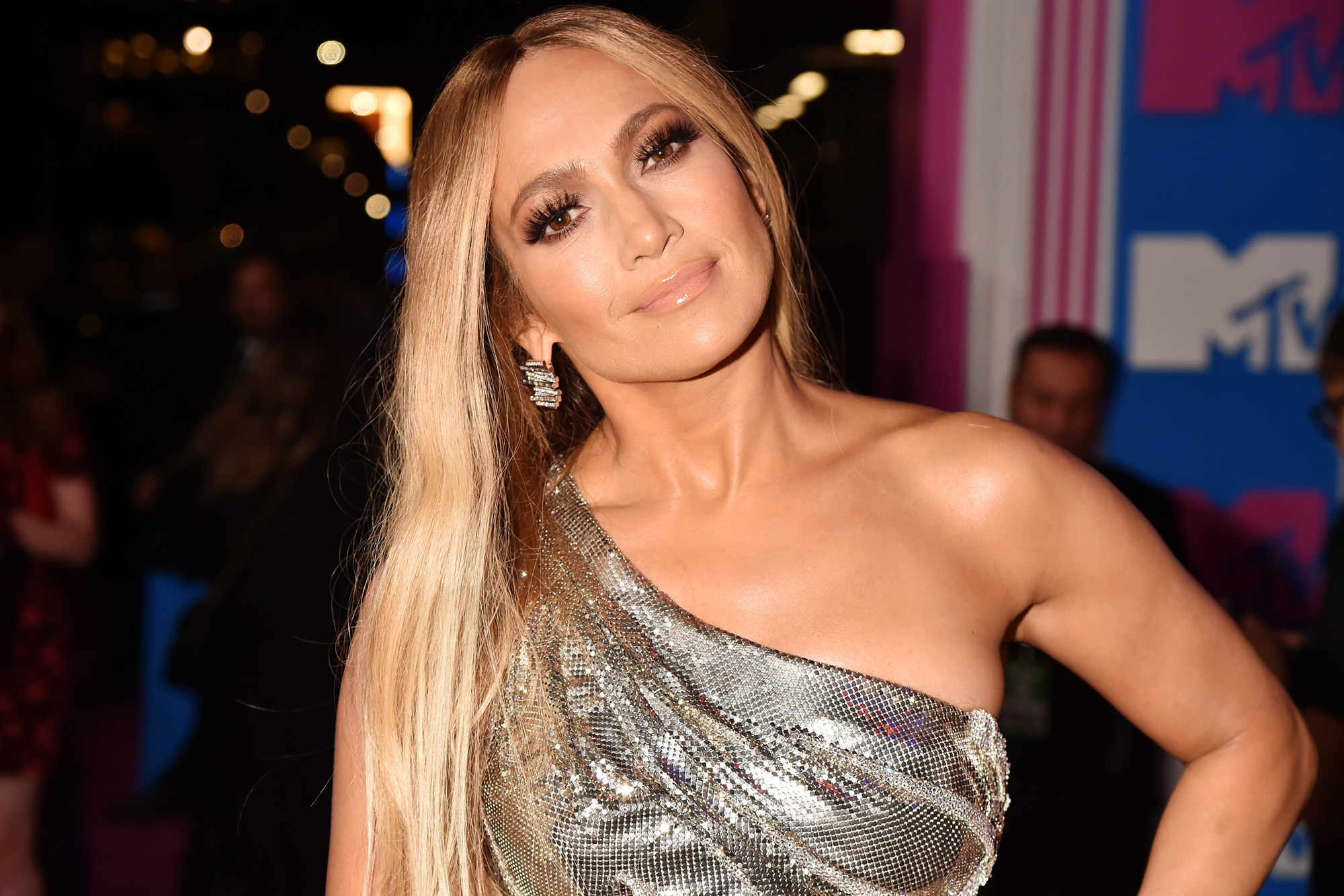 Jennifer Lopez poses half-naked in a sequined cape | Page Six