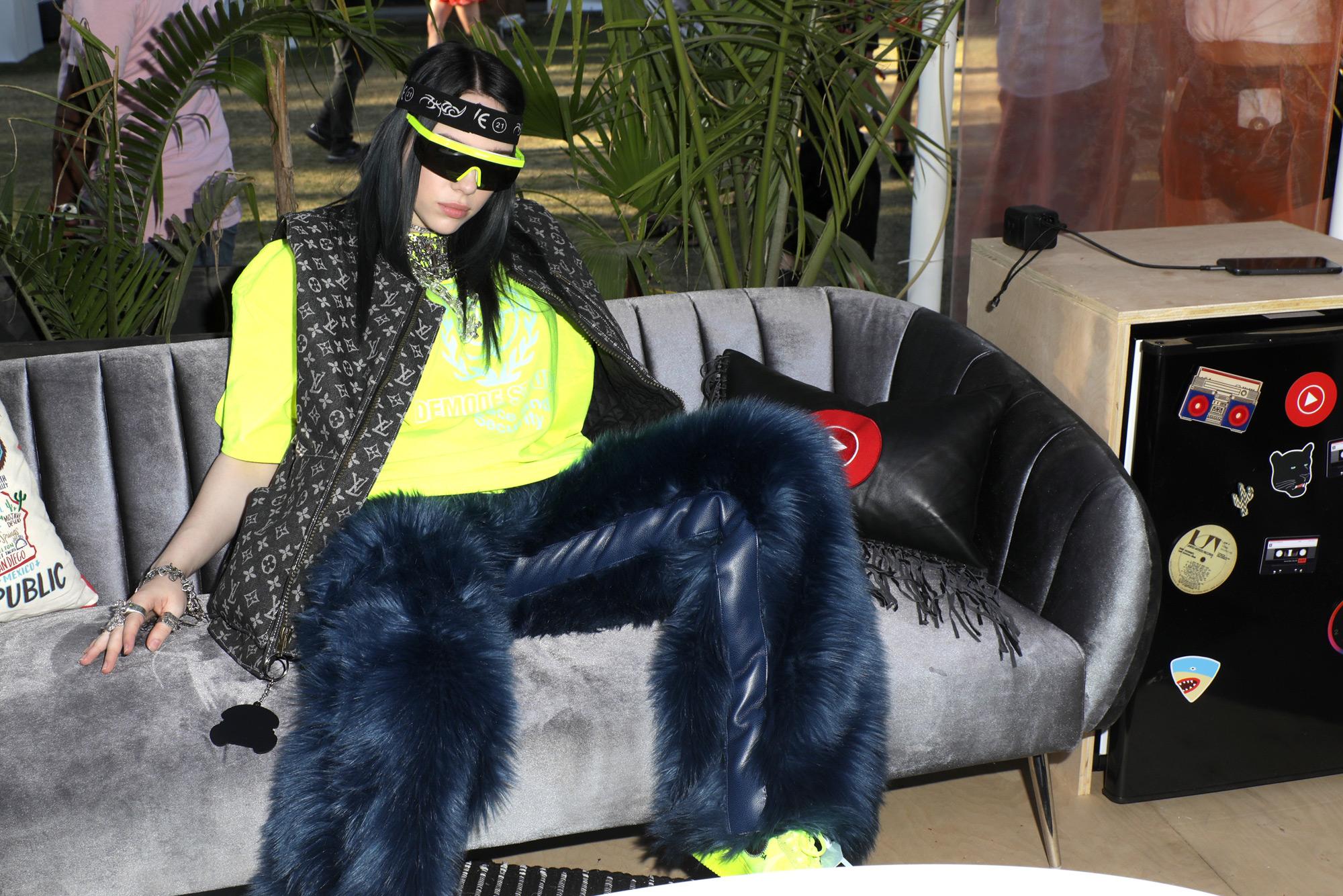 Billie Eilish Wears Fur Pants To Coachella