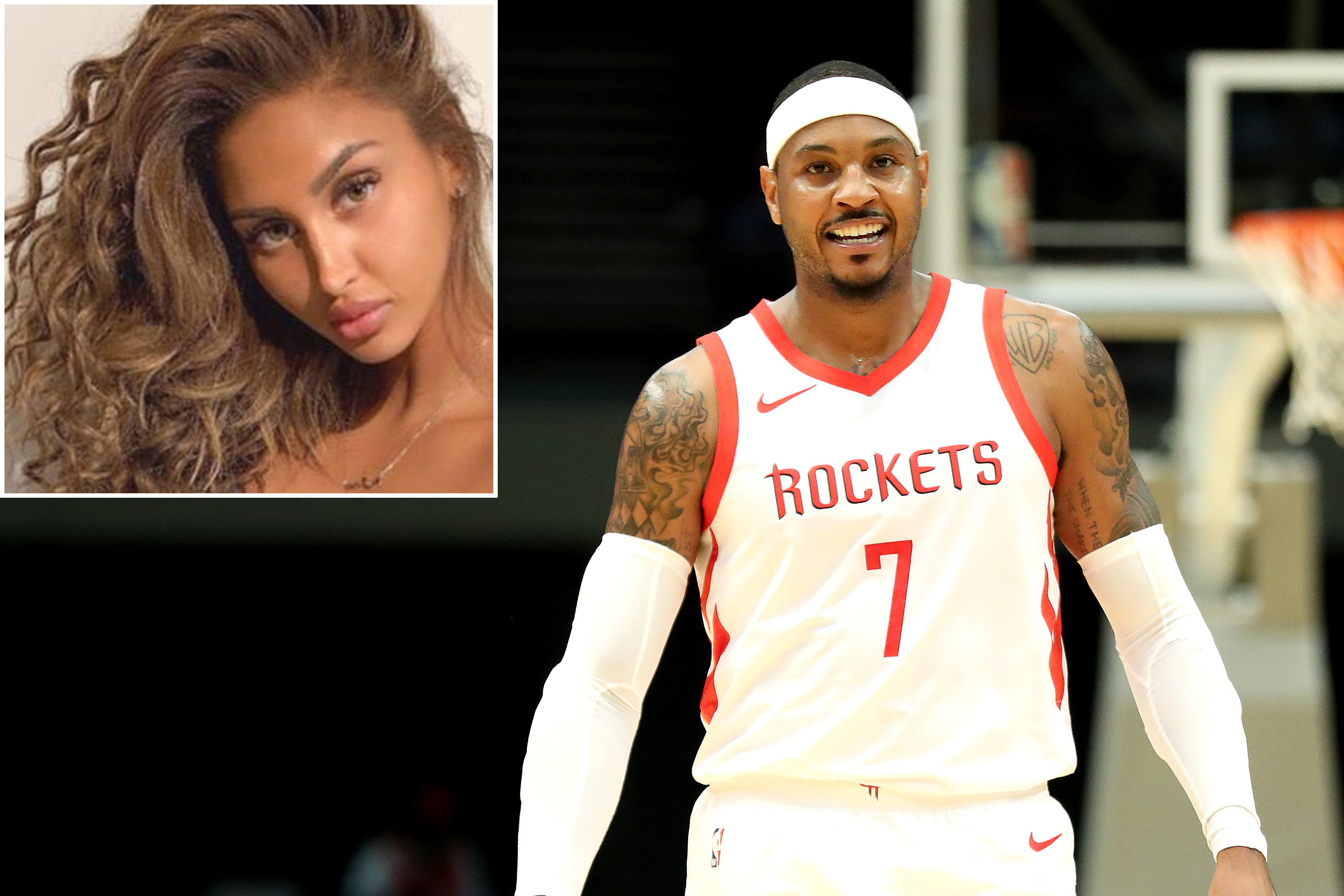 Mystery Gal Seen Yachting With Carmelo Anthony Revealed