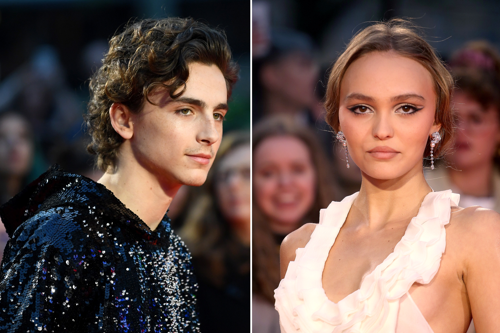 The King Stars Timothee Chalamet Lily Rose Depp Seen Making Out