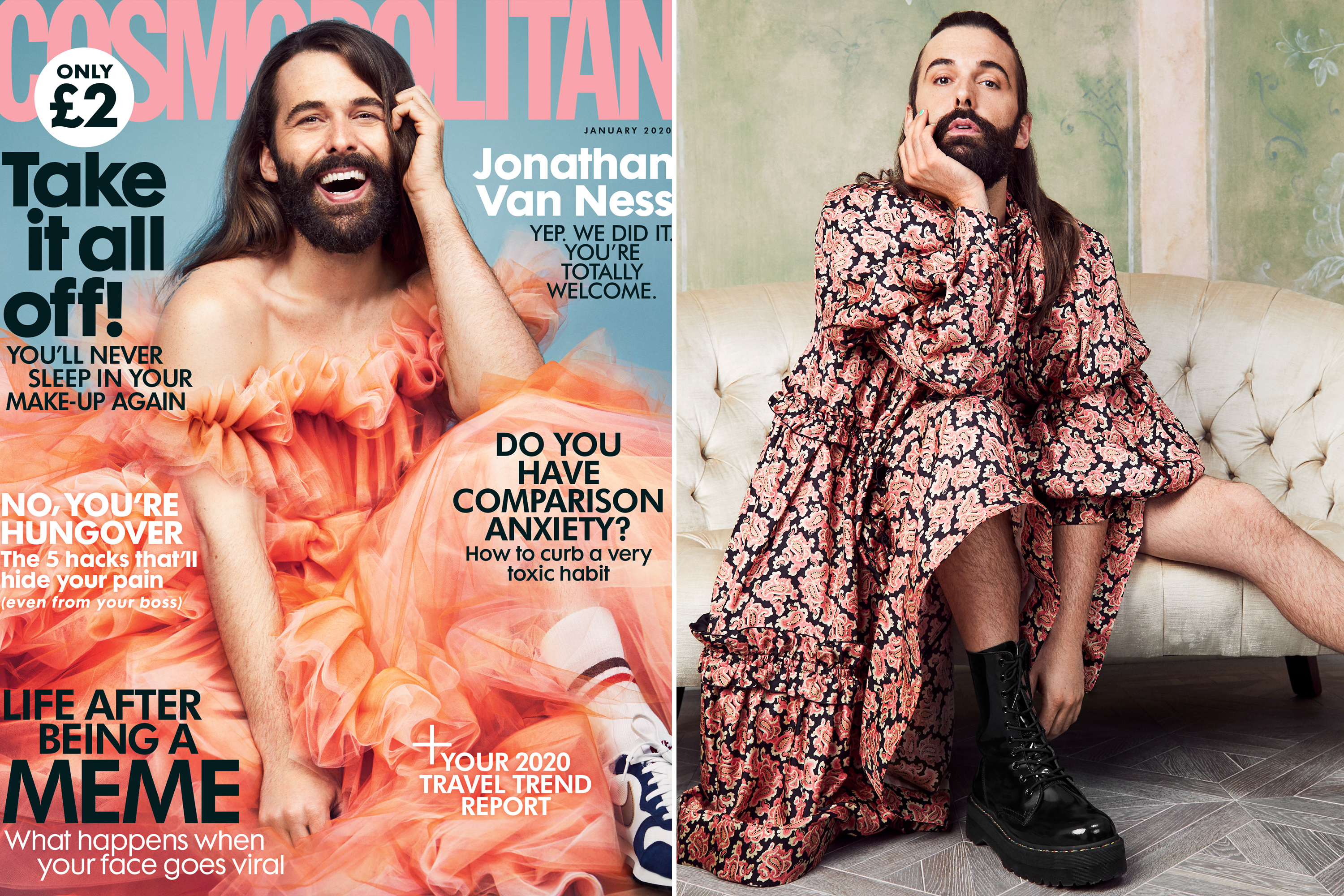 Cosmo puts 'Queer Eye' star Jonathan Van Ness on cover