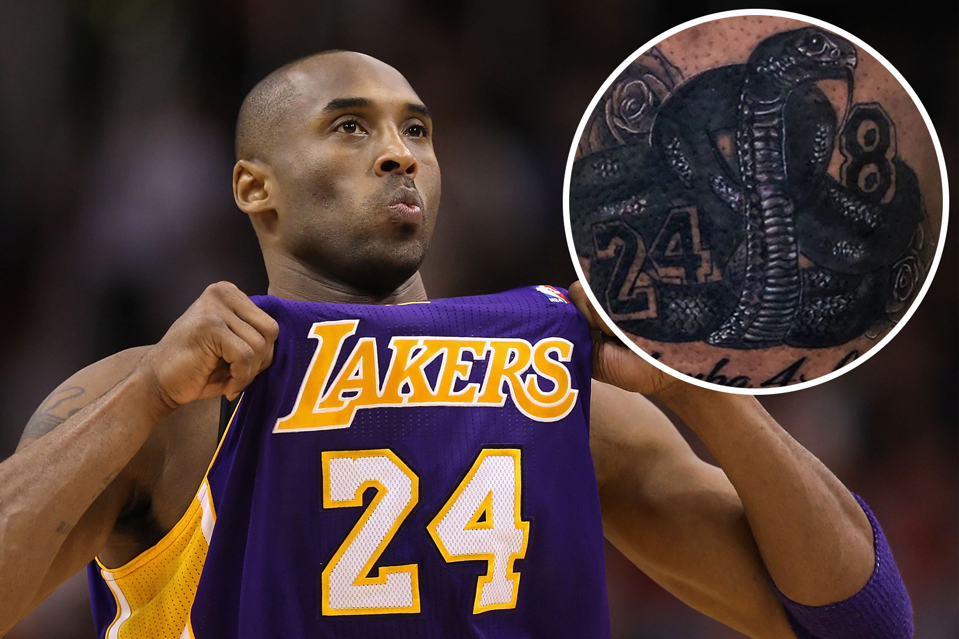 Celebrities pay tribute to Kobe and Gianna Bryant with tattoos