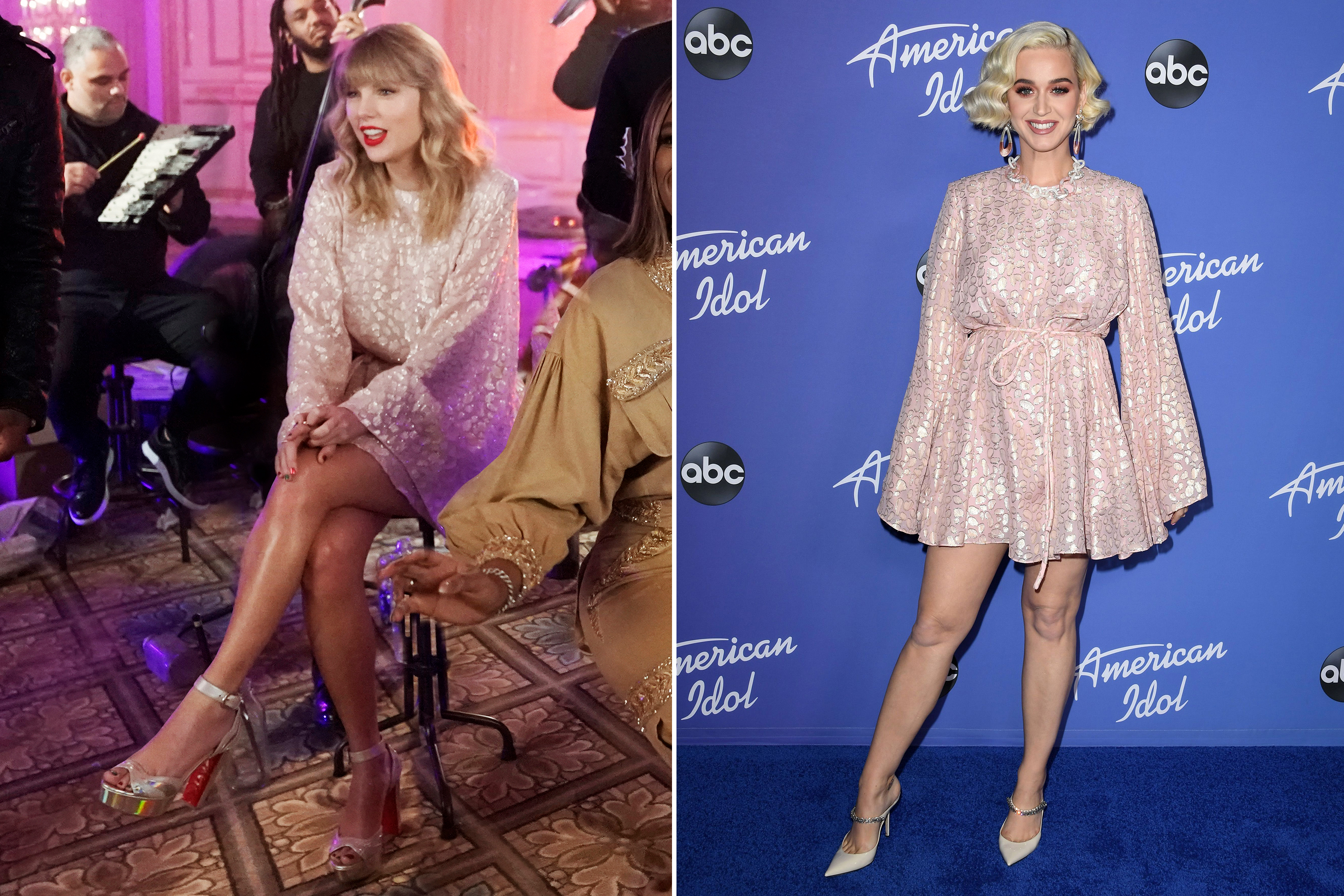 Taylor Swift And Katy Perry Are A Purr Fect Match In Pink Leopard Print
