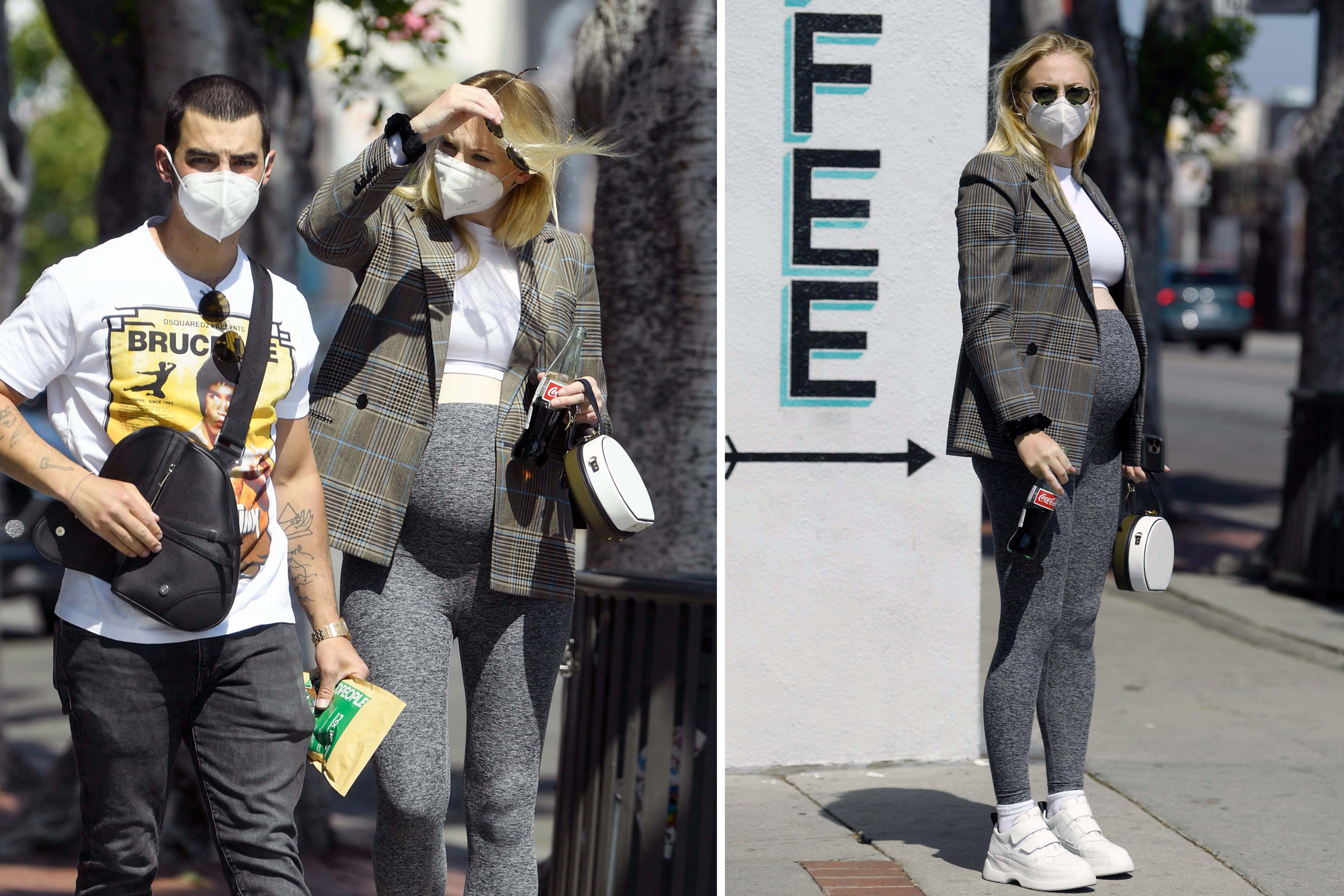 Pregnant Sophie Turner Flaunts Baby Bump In Leggings And Crop Top