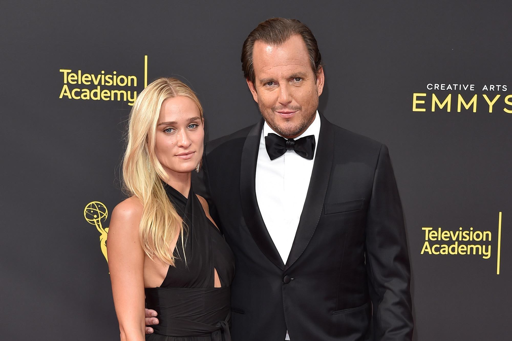 Will Arnett con Novia Erin David
