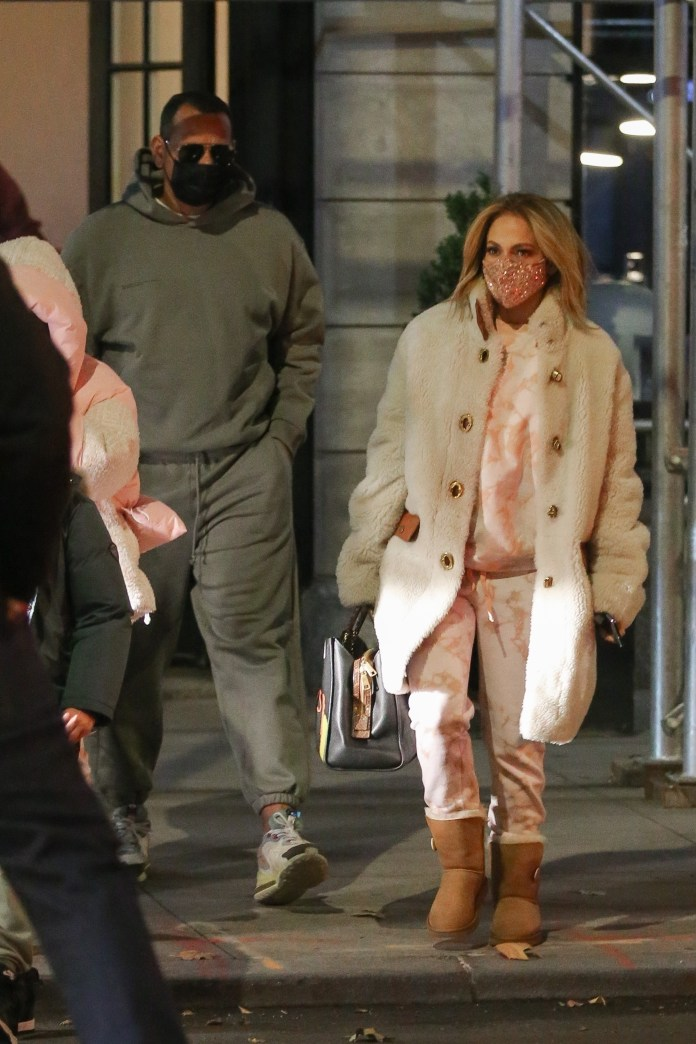 Jennifer Lopez looks chic and cozy in the Big Apple!