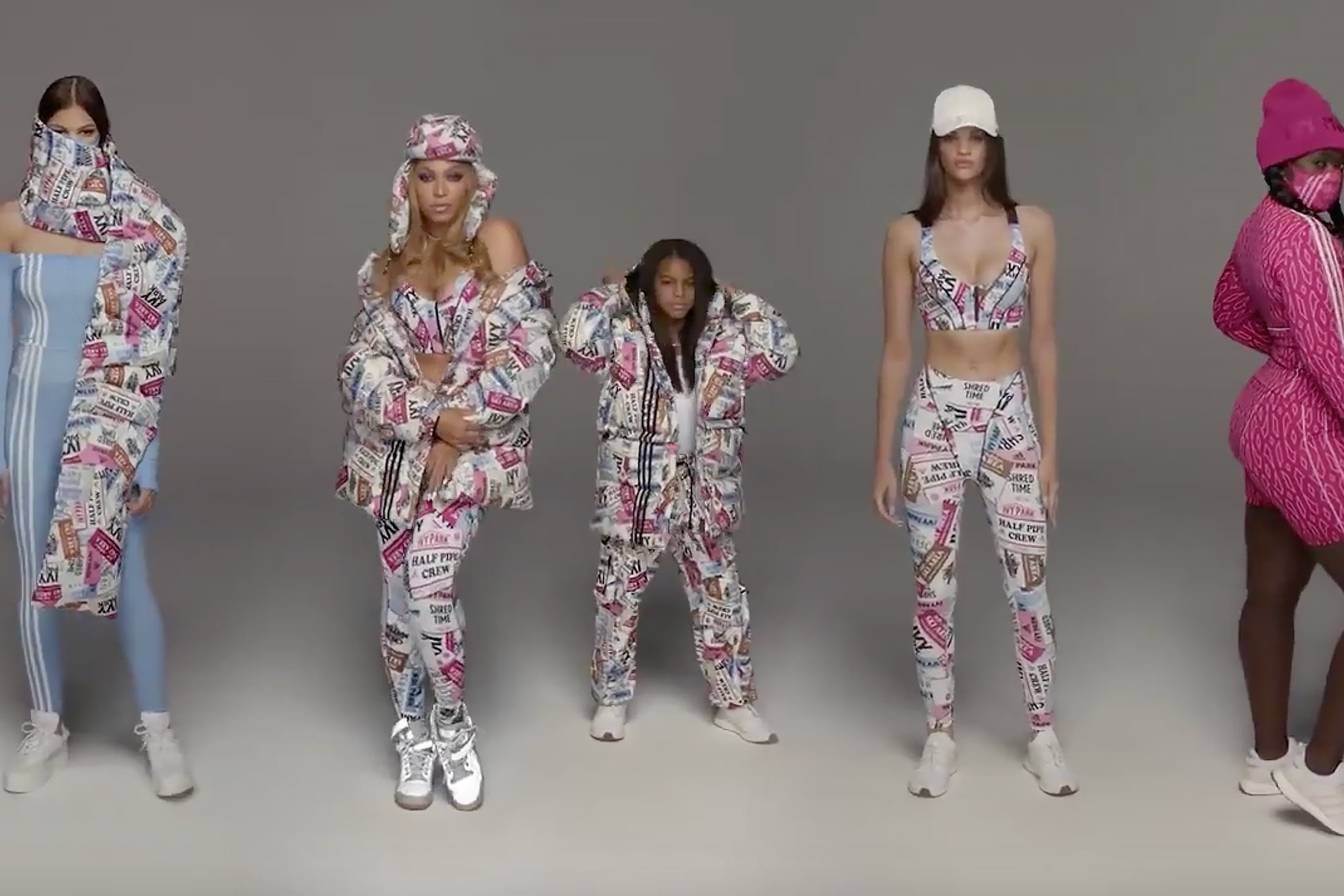 Image result for Blue Ivy Carter Models with Mom Beyoncé for New Adidas x Ivy Park Campaign