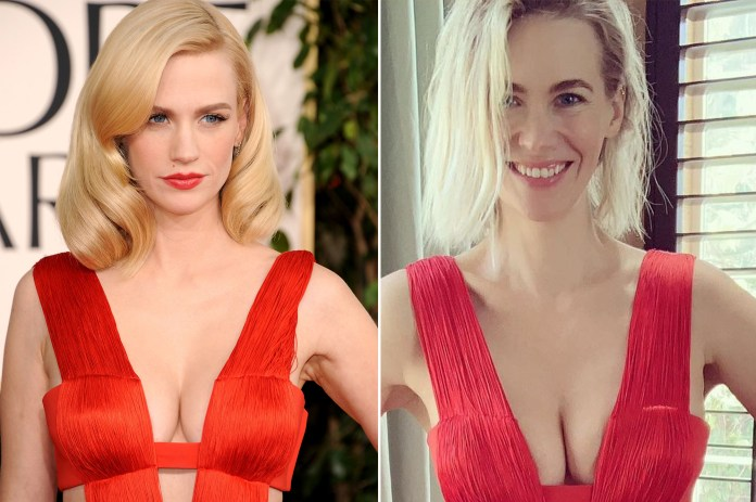 , [:en]January Jones' red-hot Golden Globes gown nonetheless suits 10 years later[:], Laban Juan