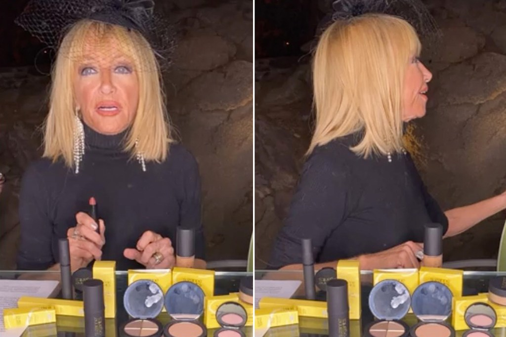 WATCH:Nearly naked intruder interrupts Suzanne Somers' livestream at home