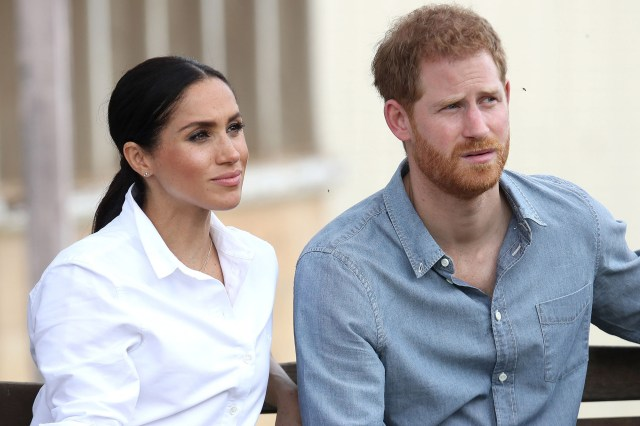 Royal couple Prince Harry and Meghan Markle, Duchess of Sussex.