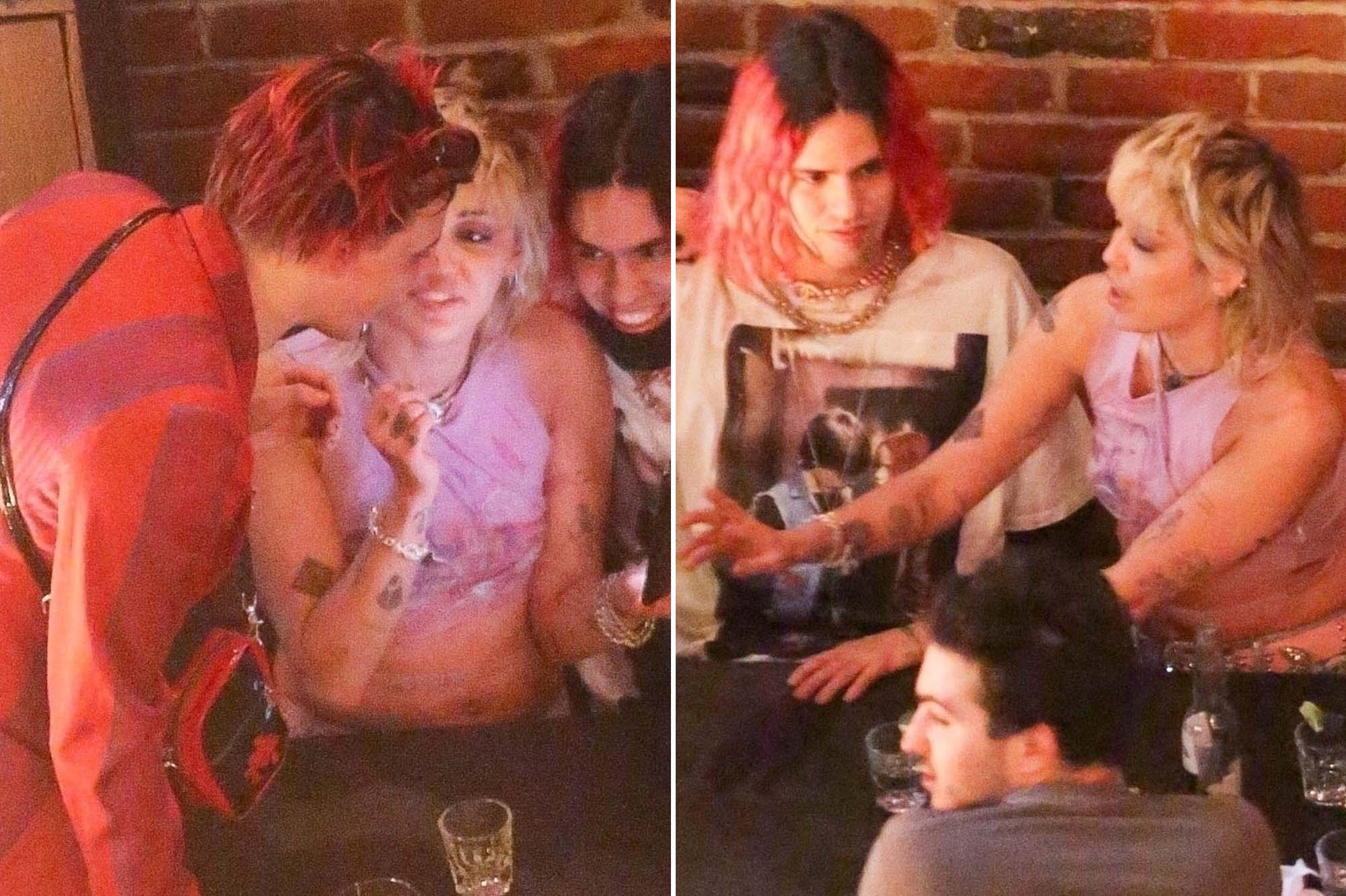 Photos: Miley Cyrus and Yungblud get cozy during night out