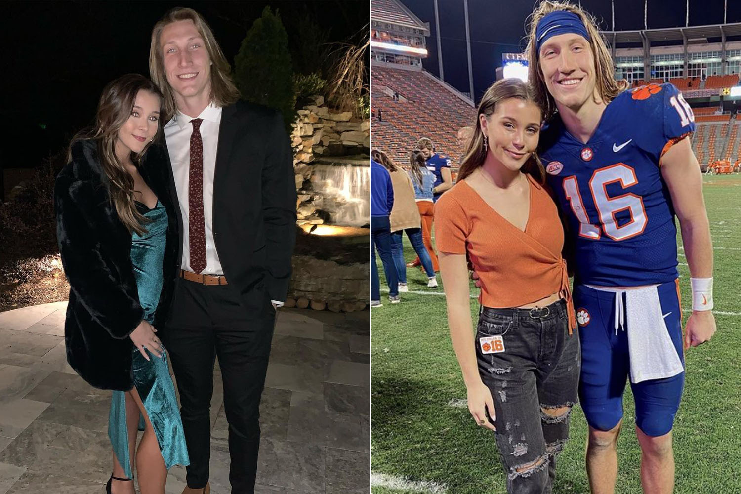 Who is Trevor Lawrence's wife, Marissa Mowry?