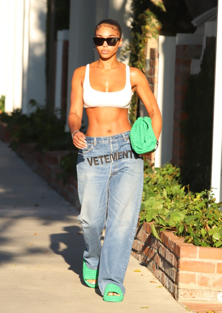 Lori Harvey seen showing sexy midriff and abs shopping Melrose Place