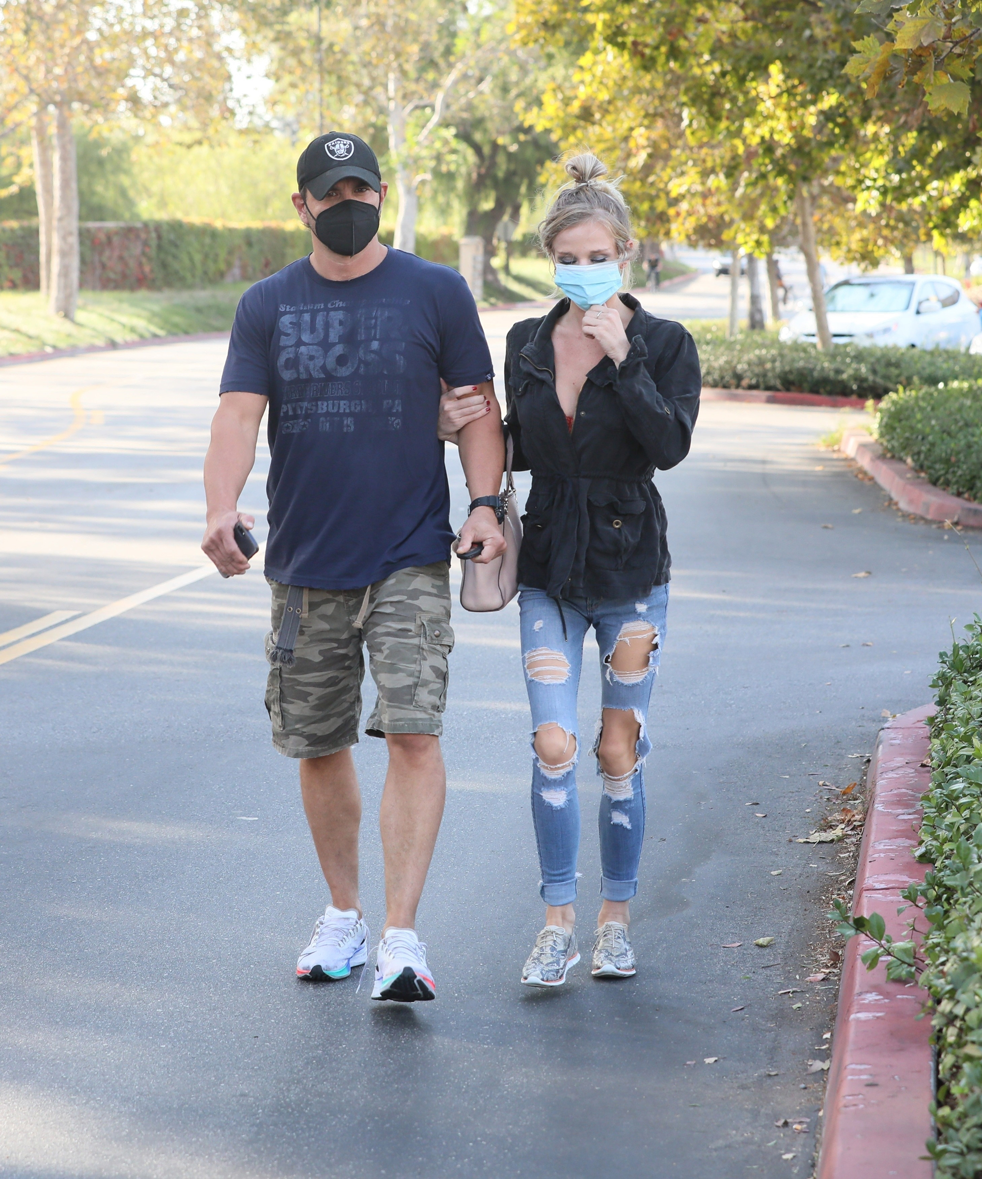 """*EXCLUSIVE* Britney Spears' brother Bryan Spears is seen shopping with his girlfriend at the exact time that his sister learned their father, would be """"suspended"""" from Britney's conservatorship."""