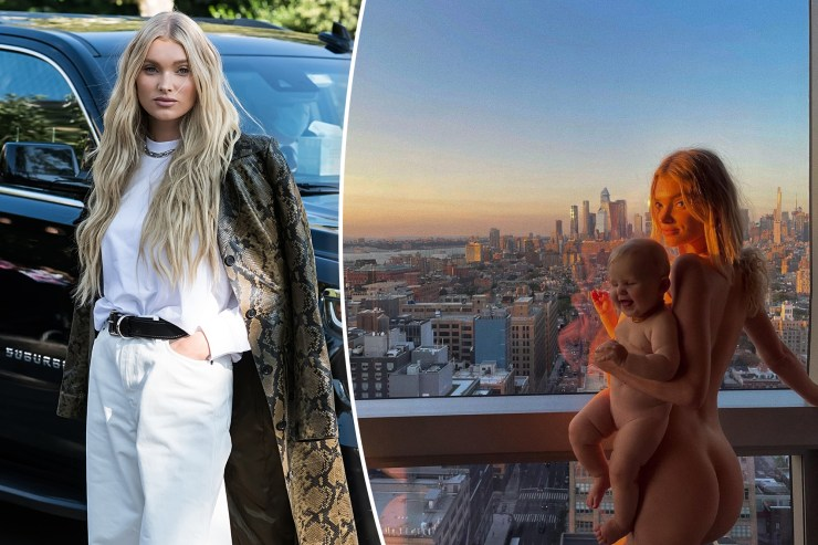 Elsa Hosk responds to 'child pornography' claims over nude photo with baby