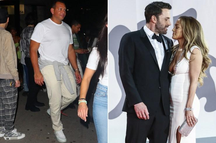 Alex Rodriguez parties at NYFW as Jennifer Lopez, Ben Affleck hit New York
