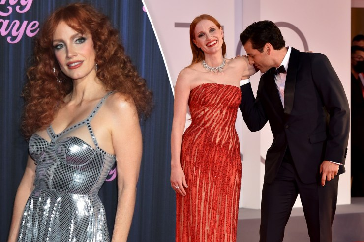 Jessica Chastain never thought her arm would go viral after Oscar Isaac kiss