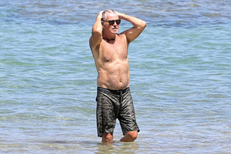 Pierce Brosnan takes a dip in Hawaii and more star snaps