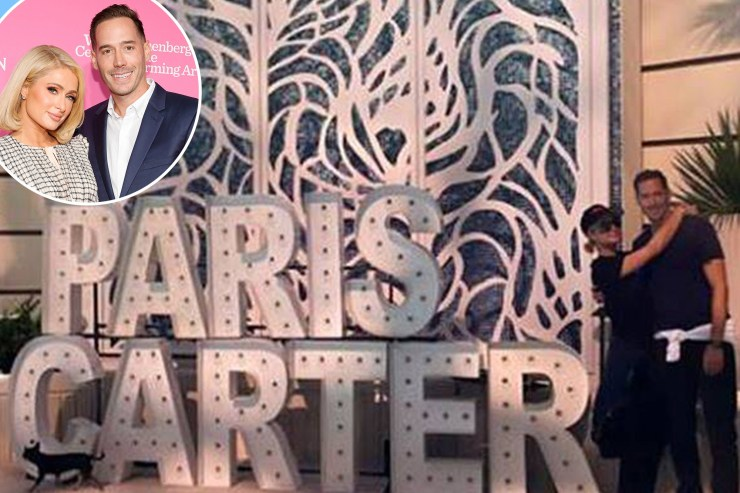 Paris Hilton, Carter Reum host joint bachelor and bachelorette bash in Vegas