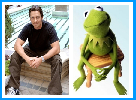 Christian Bale and Kermit the Frog