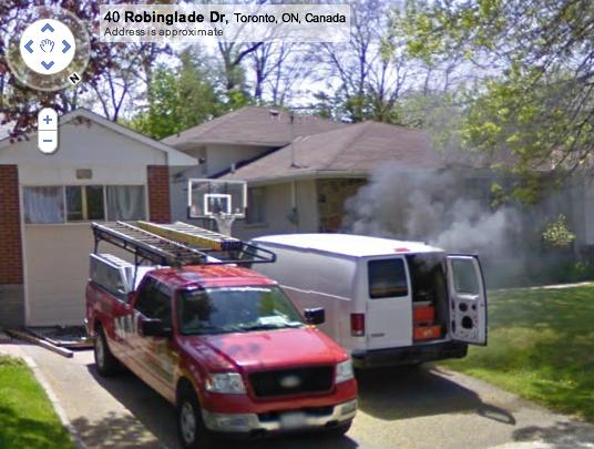 robinglade google streetview fire