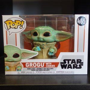 Star Wars Grogu Cookies Funko Pop! On Display at Pages N Pixels Comic Book Shop, Halifax Uk