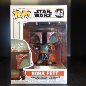Star Wars Boba Fett Funko Pop! On Display at Pages N Pixels Comic Book Shop, Halifax Uk