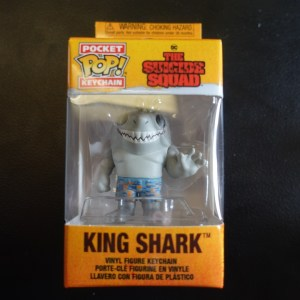 The Suicide Squad King Shark Keychain Funko Pop! On Display at Pages N Pixels Comic Book Shop, Halifax Uk
