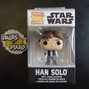 Star Wars Han Solo Keychain Funko Pop! On Display at Pages N Pixels Comic Book Shop, Halifax Uk