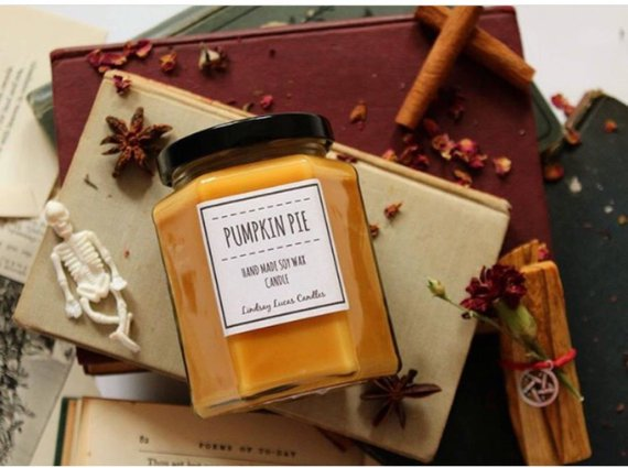 Pumpkin Pie Candle Etsy