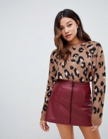 Bershka Fluffy Leopard Print Jumper from ASOS £24.99
