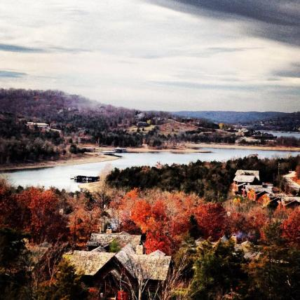View of Table Rock Lake from our room at Big Cedar Lodge.