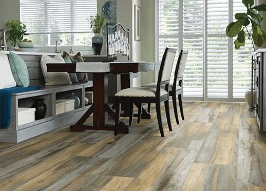 luxury vinyl plank and vinyl tile