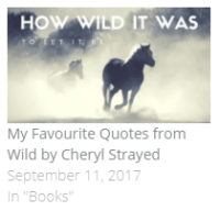 the best quotes from Wild by Cheryl Strayed