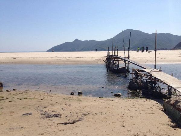 Bridge at Ham Tin Beach at Tai Long Wan