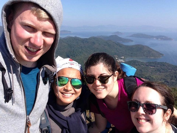 Hikers on the MacLehose Trail in Hong Kong