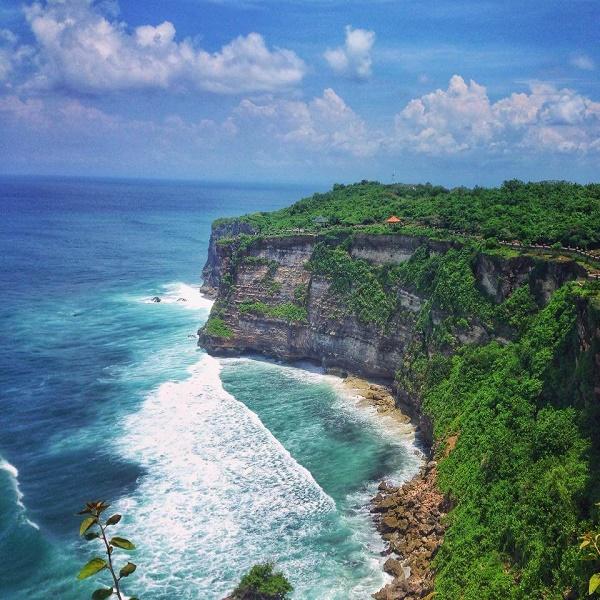 Cliff and ocean view at Uluwatu, Bali, Indonesia