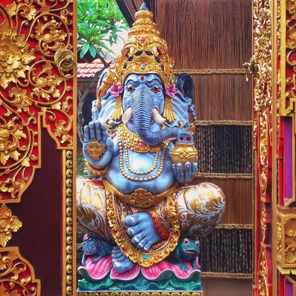 Ganesh statue at a Hindu temple in Ubud, Bali, Indonesia