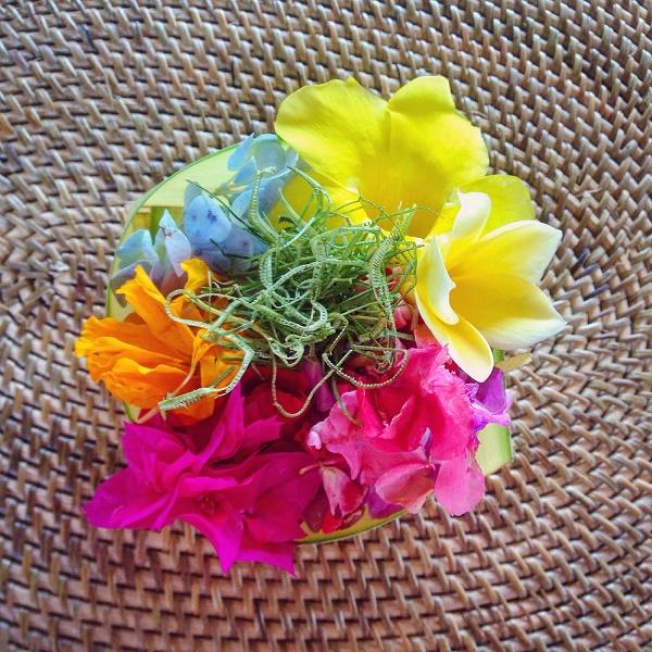 Hindu flower offering, Bali, Indonesia