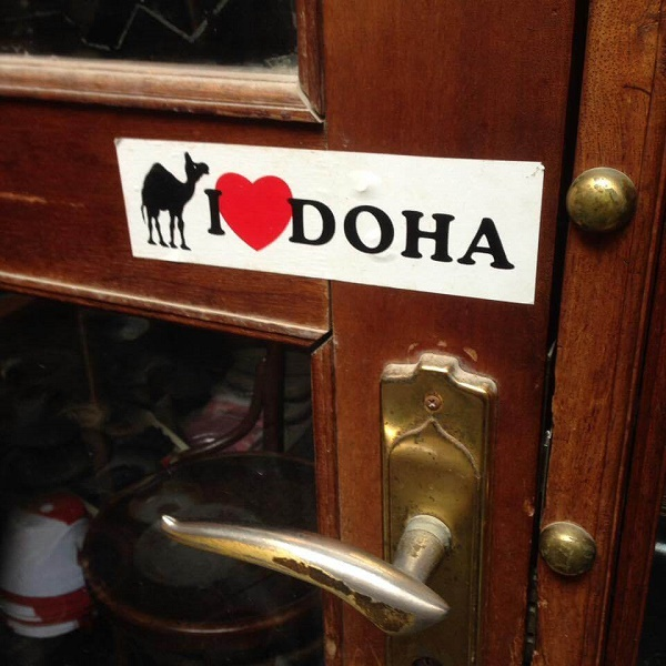 I Love Doha sign with camel